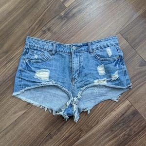 Vintage Cropped Jean Shorts